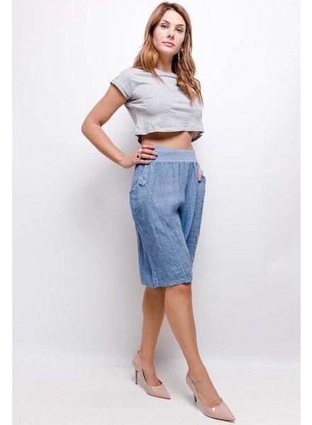 Over size Linen short