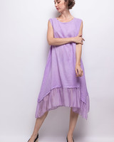 Plain Dress Linen and silk