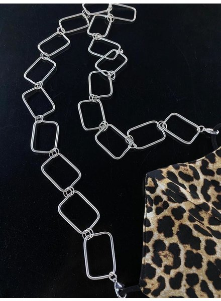 silver Chain necklace or Mask