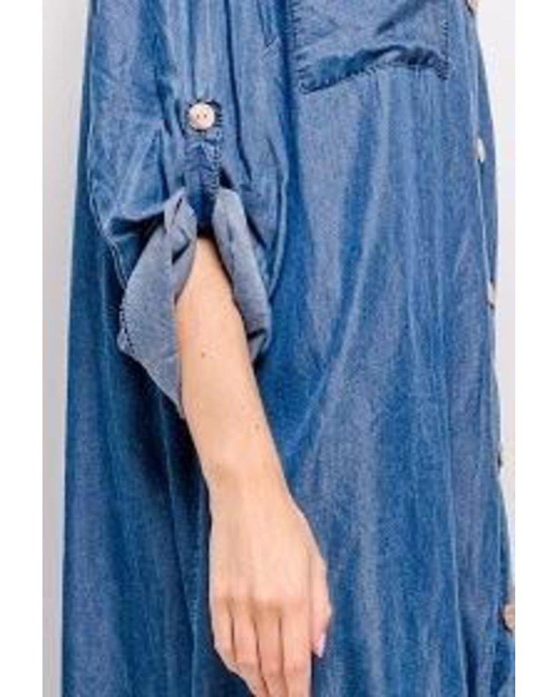 Cotton Denim Dress Plus