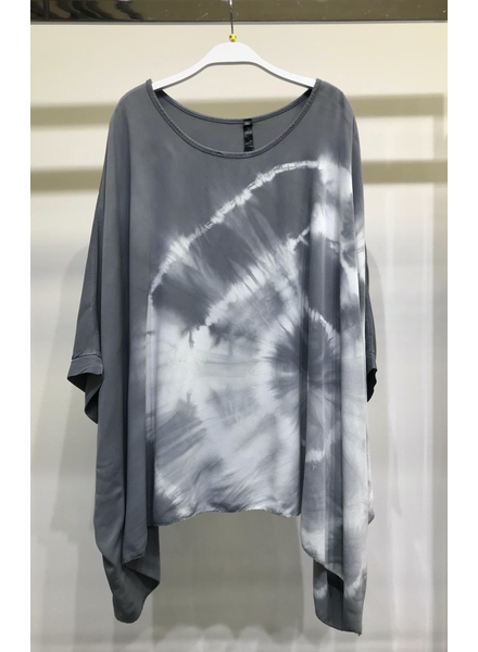 RING TIE DYE OVERSIZE DRAPEY TOP
