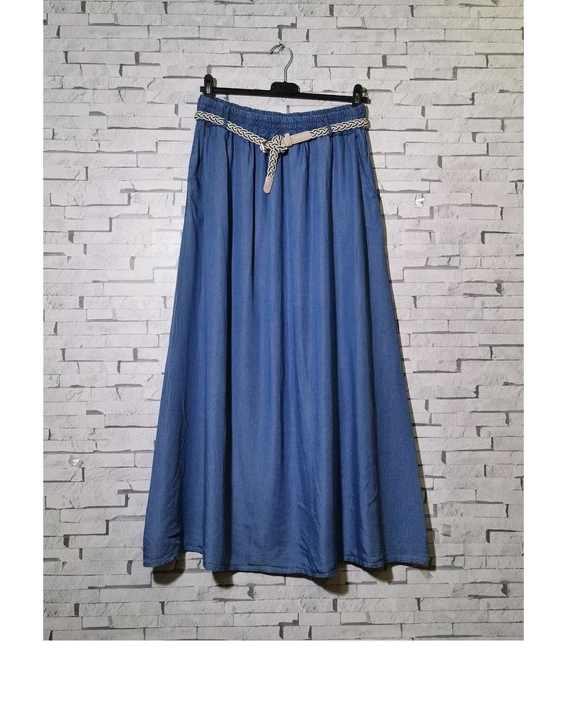 Long Jeans Skirt