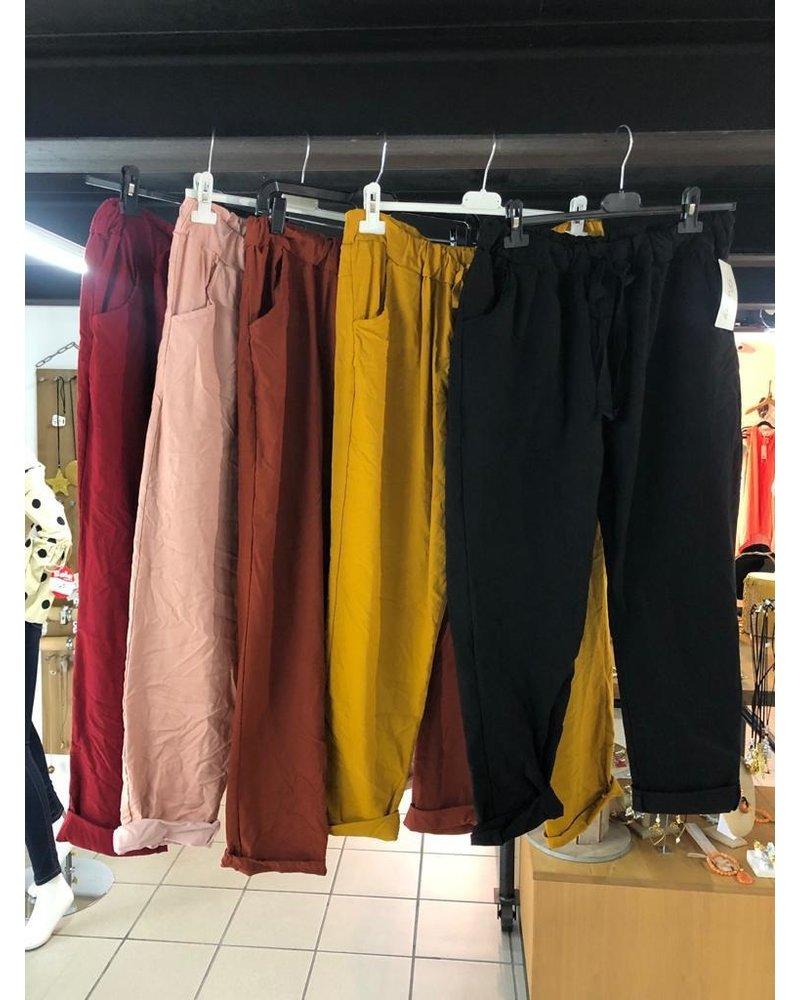 Pants with elastic waist Plus (xl-2x)