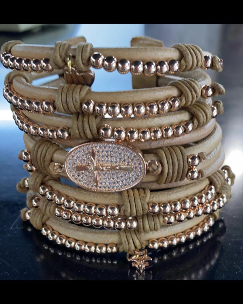 handmade bracelet from venezuela Rose Gold