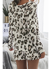 leopard print tops and short pants sets