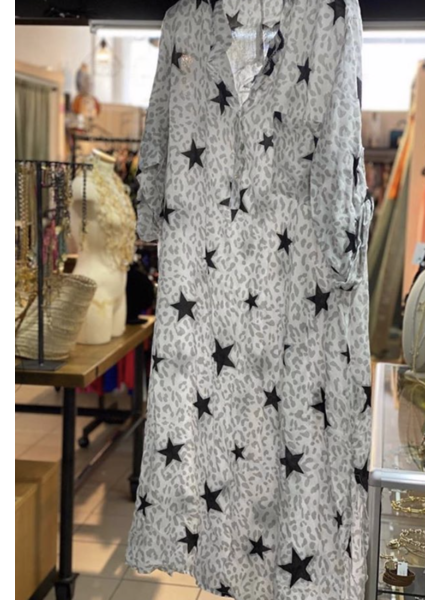 Printed Stars Maxi Dress(xl-2x)