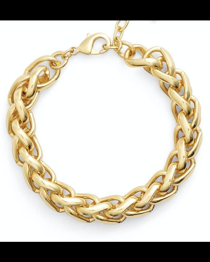braided link bracelet
