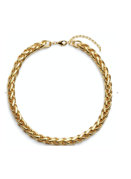braided link collar necklace