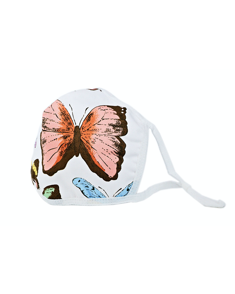 Butterflies Mask white