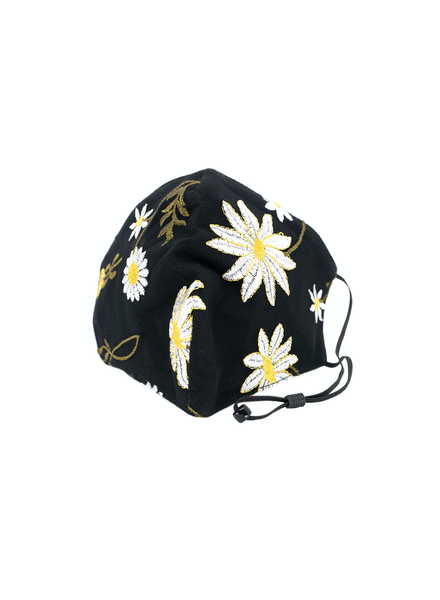 Daisy Mesh Mask (Black)