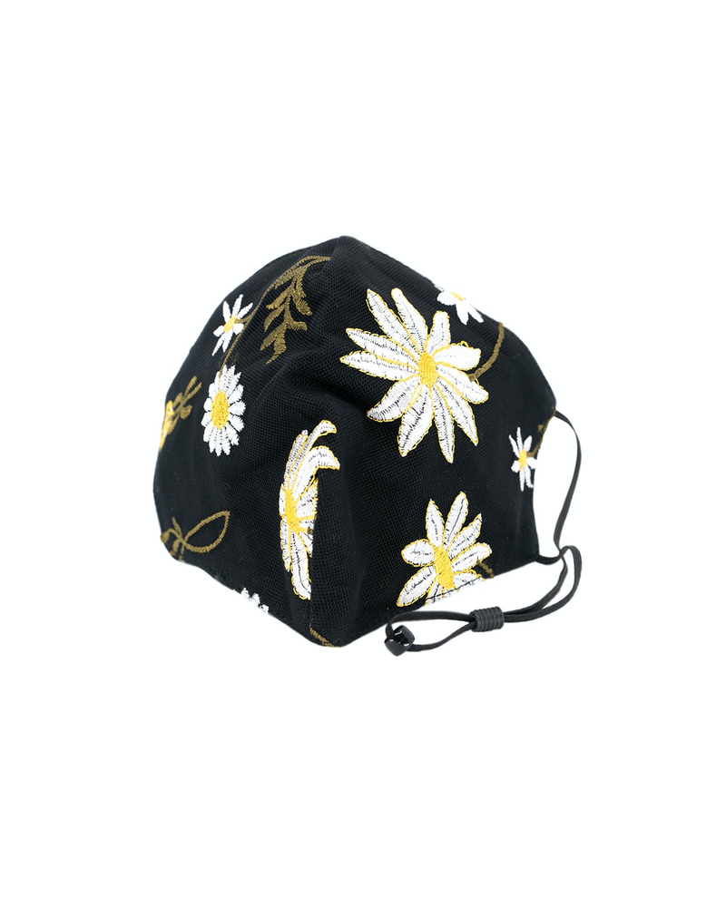 Daisy Mesh Mask (Black)