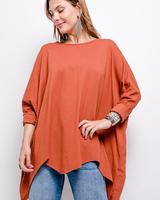 Oversize plain top