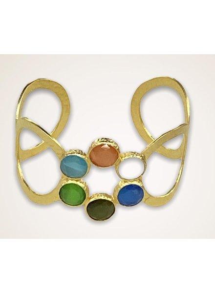 Stone Gold plated Bracelet