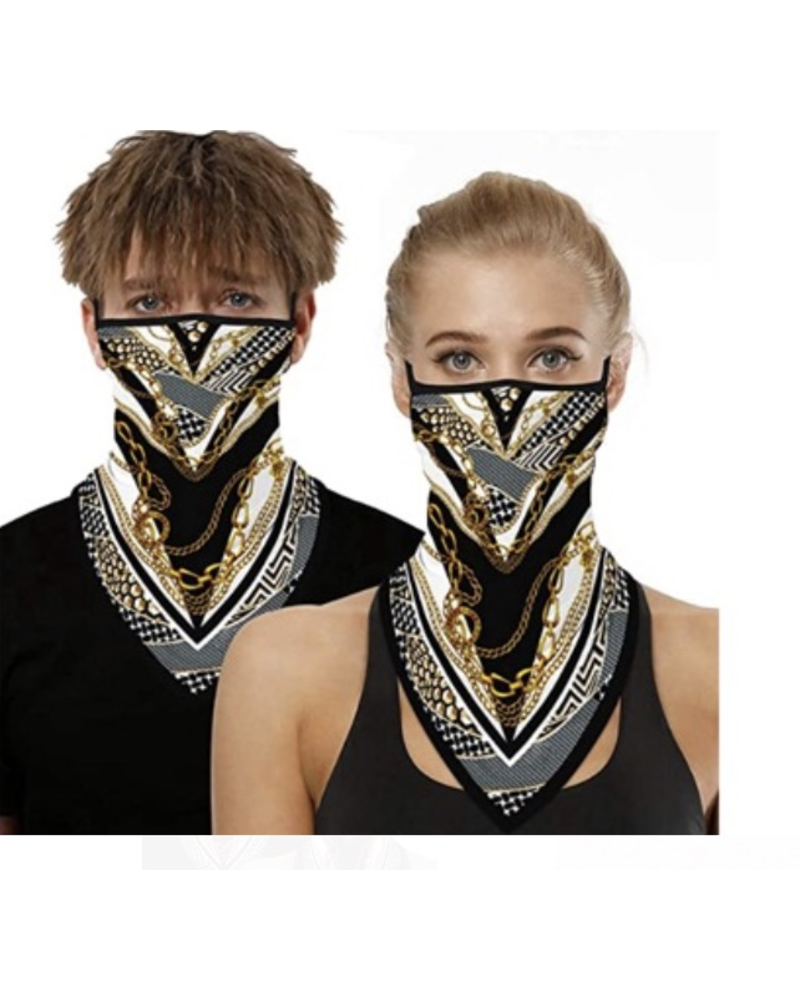 Gold Chain Neck Scarf