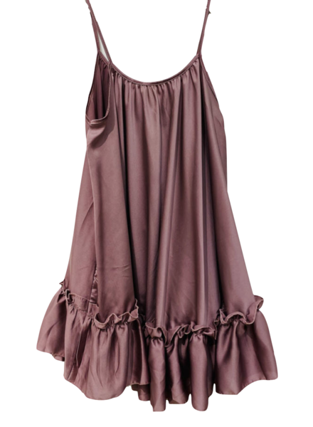 Strappy Dress with Ruffle