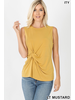KNOT-FRONT SLEEVELESS TOP