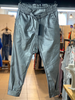 Faux lather Silver Jogger