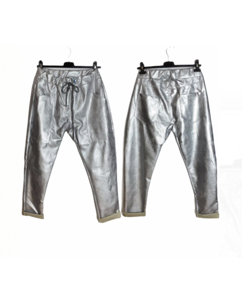 Faux leather pants Silver