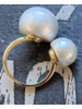 Double pearl 18k Gold plated Ring