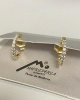 "Earrings Silver or Rodio 3/4"""