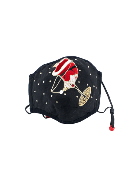 Santa's Tipsy Mask (Black)