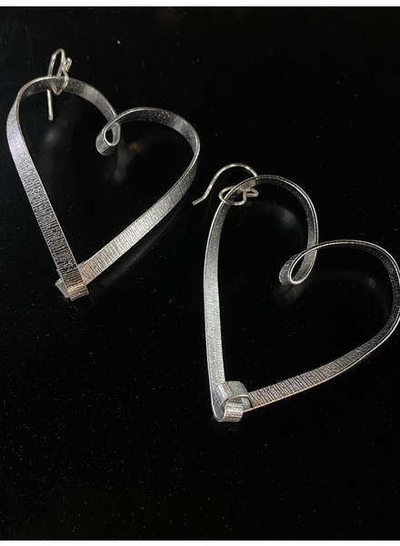 "2""  heart aluminum earrings"