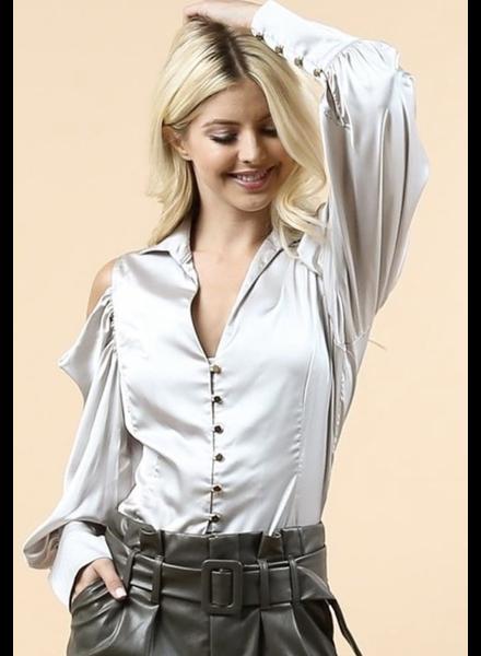 Satin long Sleeves blouse