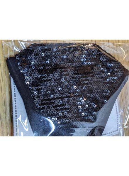 All over sequin Black Mask