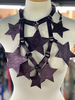 Reversible Stars Leather Necklace