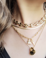Set 4 collares Gold Plated