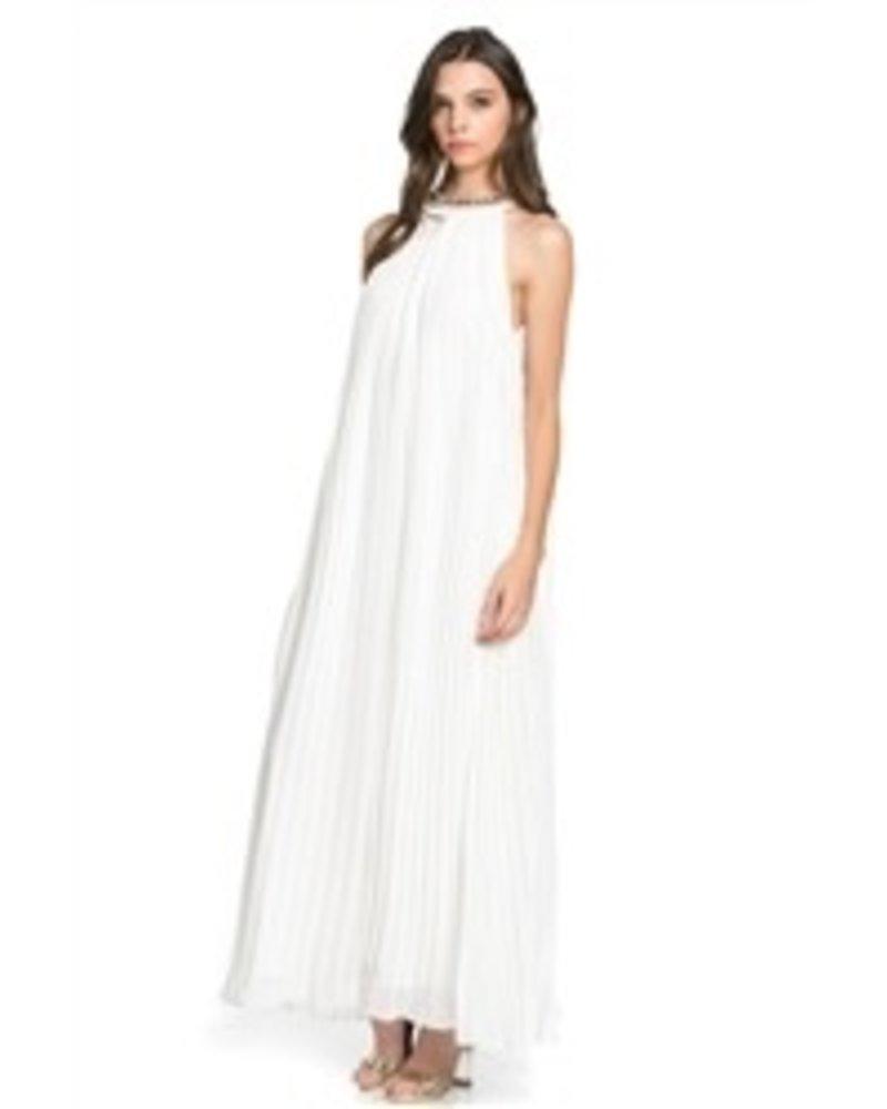 jeweled neck dress