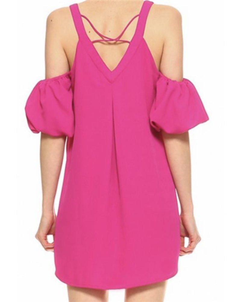 CRISSCROSS BACK SHIFT DRESS