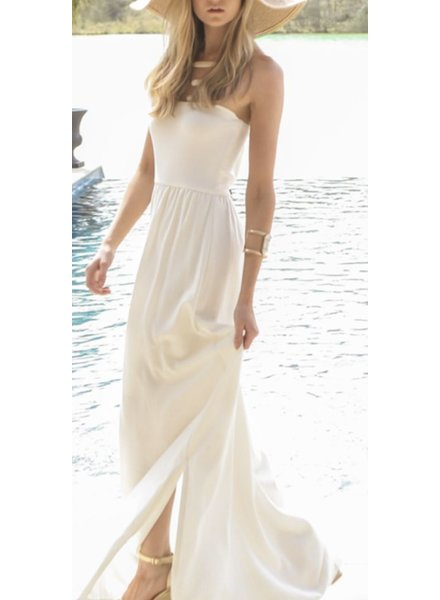 linen strapless dress