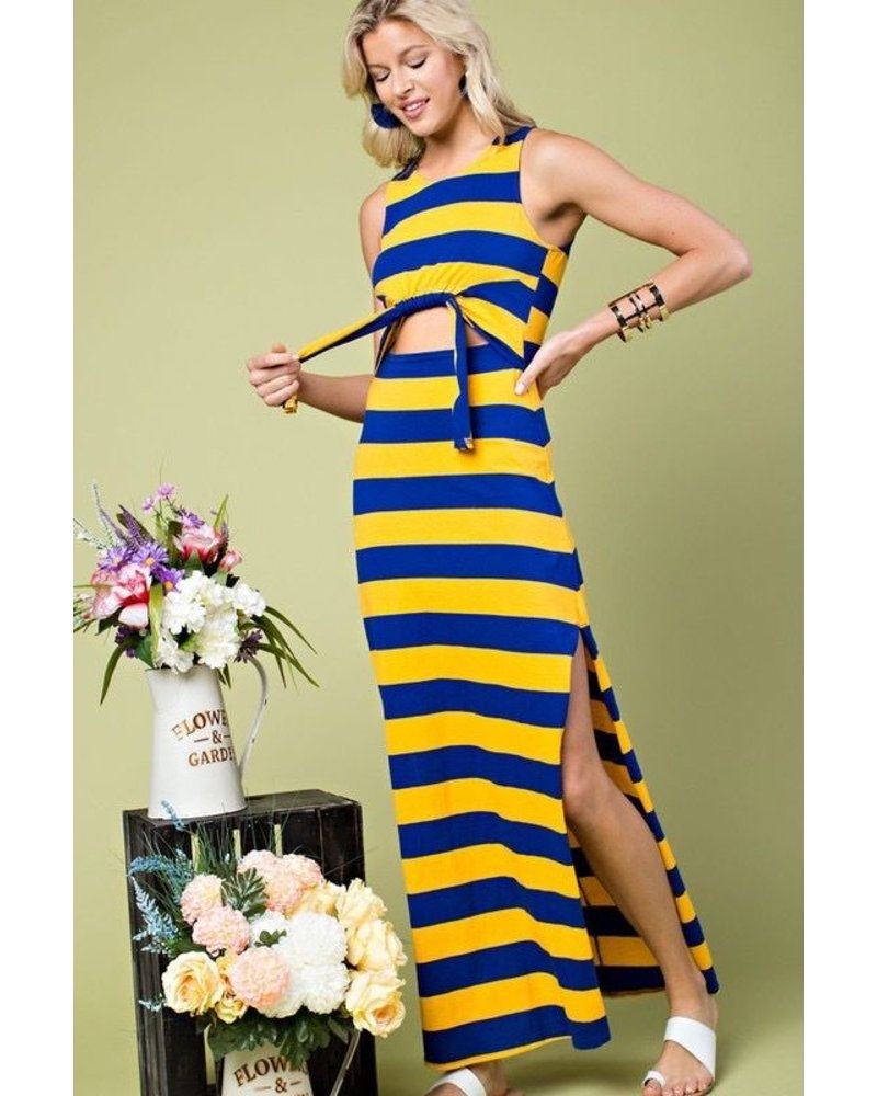 MULTI STRIPE Maxi Dress