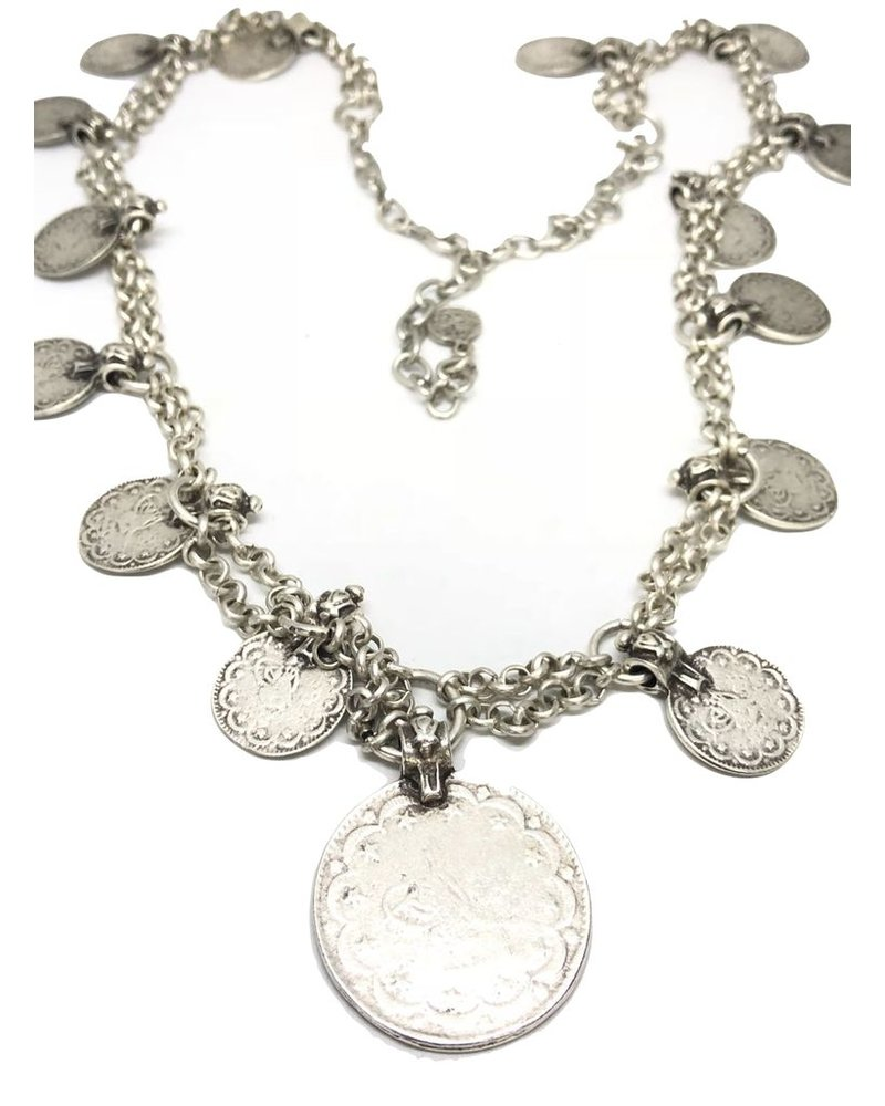 Coins Long Necklace