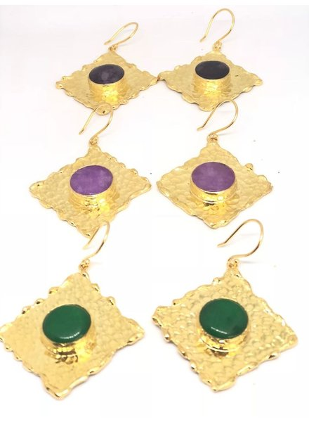 Square Gold Plated earrings