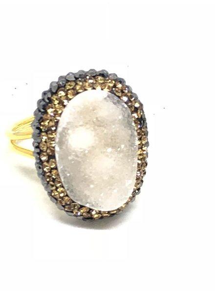 Druzy Ring 925 silver