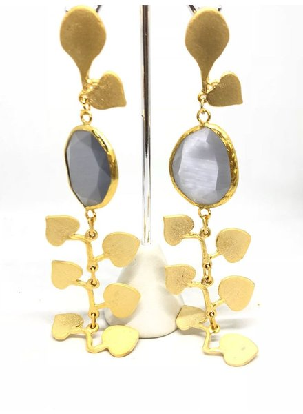 Cat Eye Long Earrings