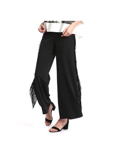 side tasseled pants