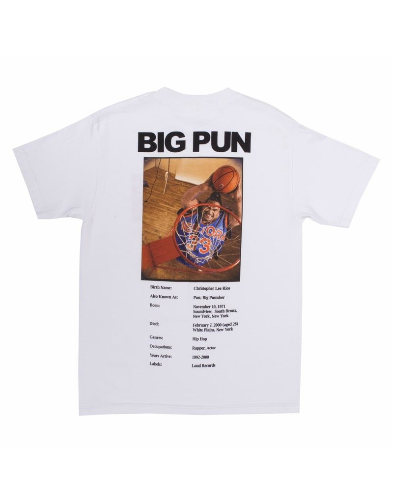 Pleasures x Big Pun Stats T-Shirt