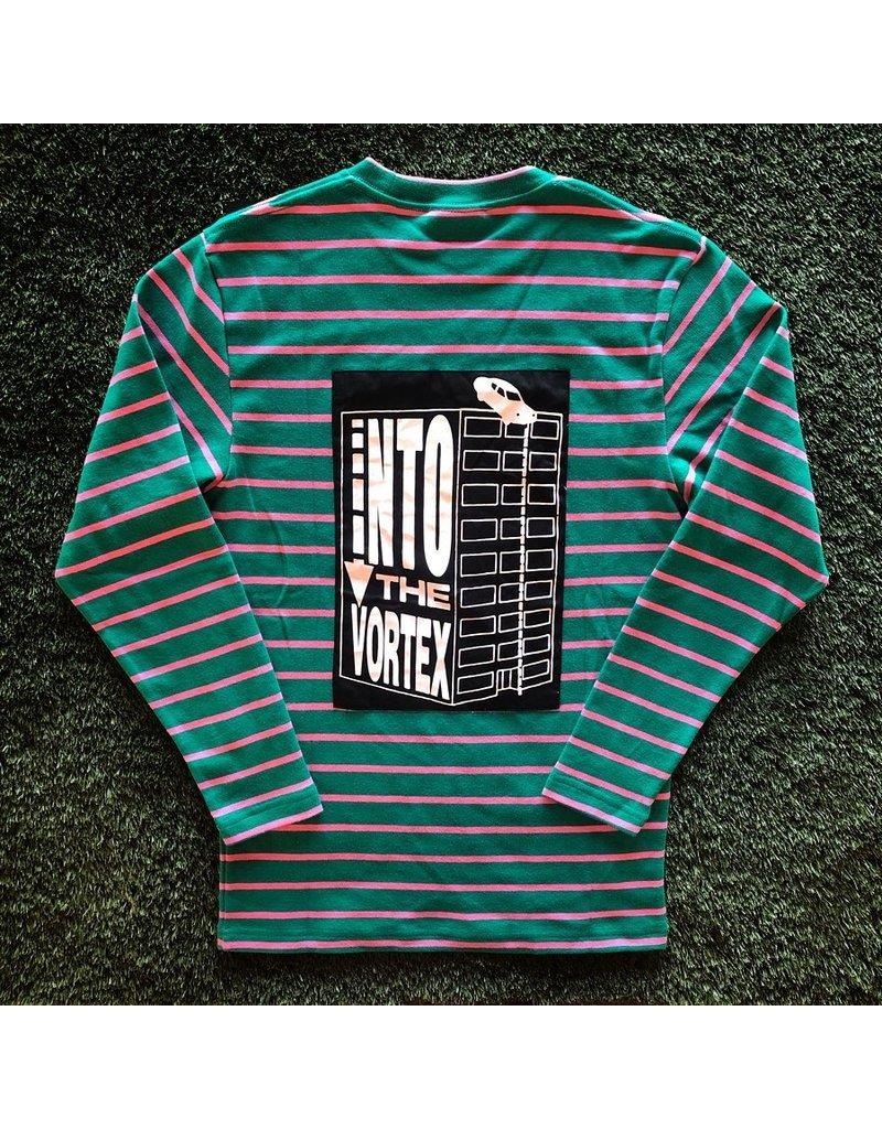Pleasures Vortex Long Sleeve Stripped Shirt