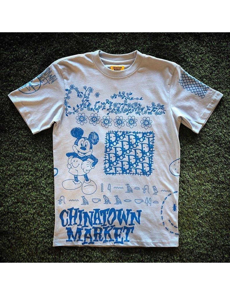 Chinatown Market Doodle Print T-Shirt