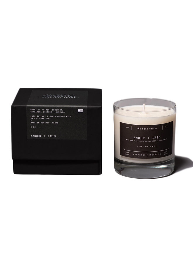 The Bold Series Soy Candle Amber + Iris
