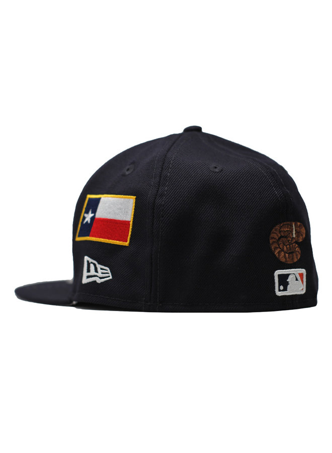 Area Codes Fitted Hat Houston Astros