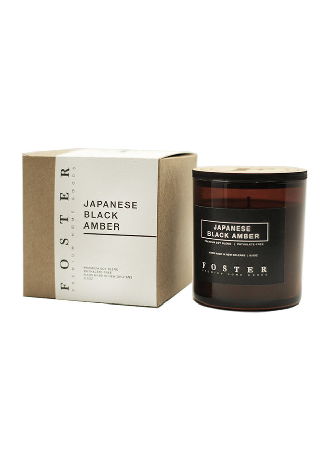Premium Soy Candle Japanese Black Amber