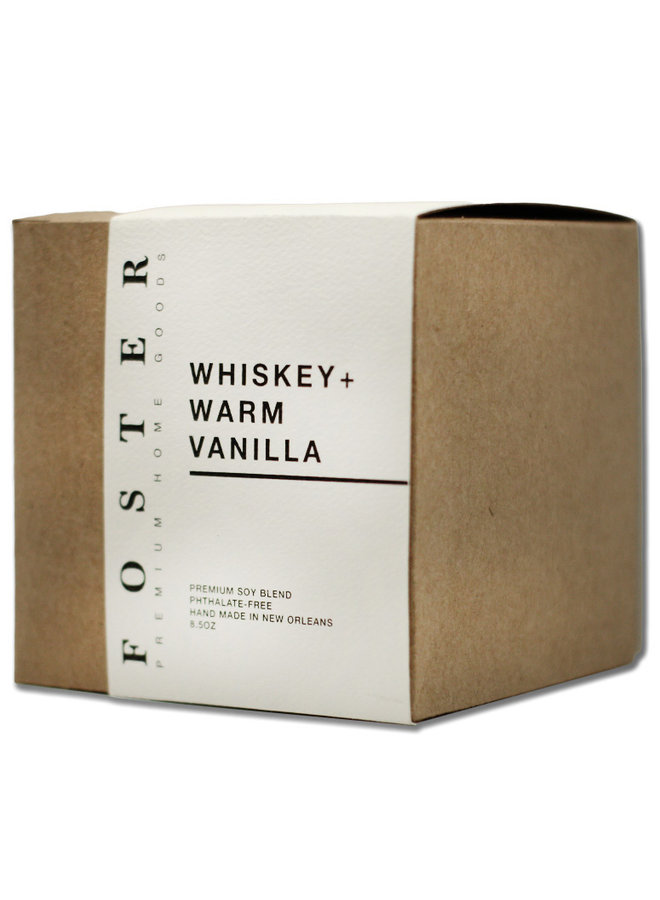 Premium Soy Candle Whiskey + Warm Vanilla