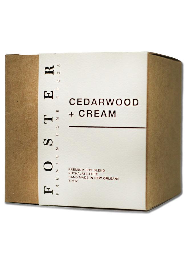 Premium Soy Candle Cedarwood + Creme