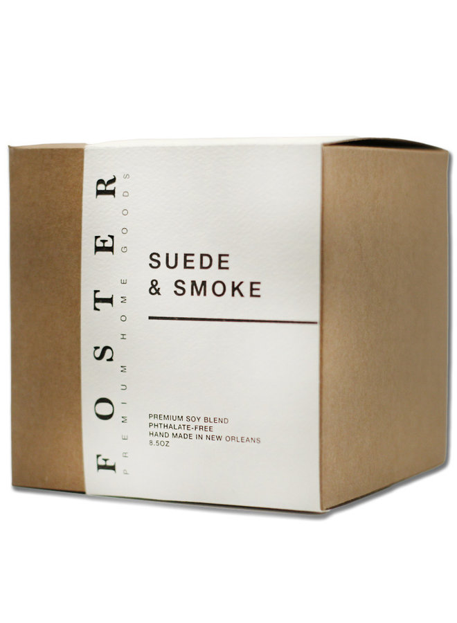 Premium Soy Candle Suede + Smoke