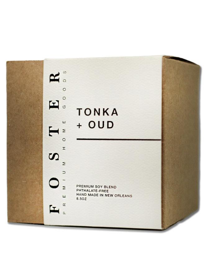 Premium Soy Candle Tonka + Oud