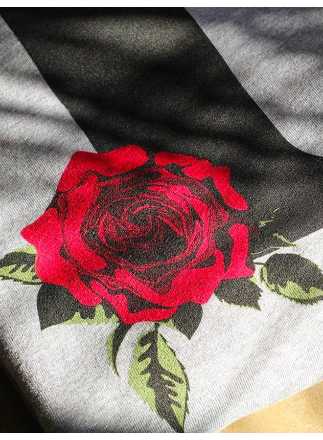 F-Rose Embroidered Hoodie